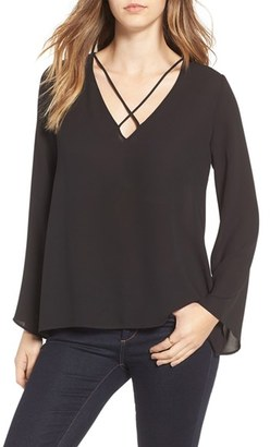 Women's Lush Cross Front Blouse $45 thestylecure.com