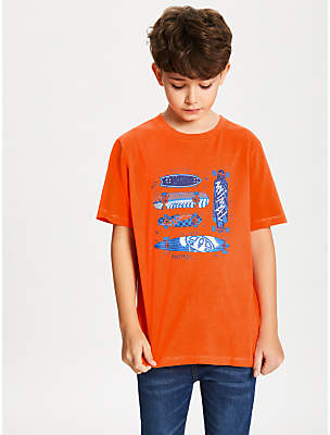 Animal Boys' Boardslide Graphic Print T-Shirt, Orange