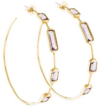 Ippolita 18K Amethyst Rock Candy Hoop Earrings
