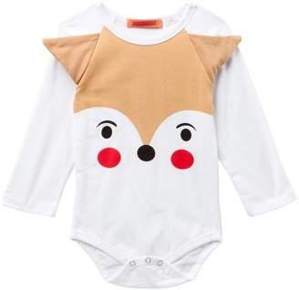 Funkyberry Fox Long Sleeve Bodysuit (Baby Girls)