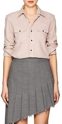 Saint Laurent Women's Cotton Chambray Western Shirt