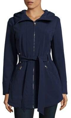Jessica Simpson Water-Resistant Hooded Raincoat