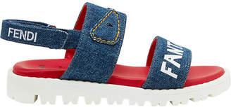 Fendi denim cleated sole sandals