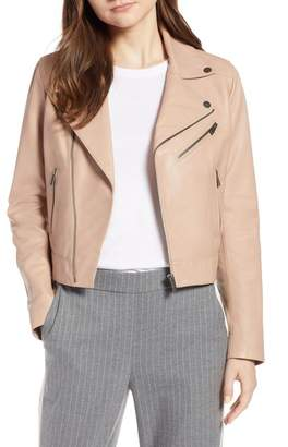 Halogen Leather Moto Jacket (Regular & Petite)