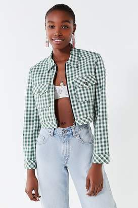 Urban Outfitters As If Cropped Gingham Jacket