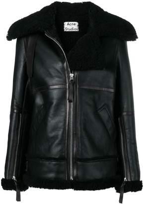 Acne Studios aviator shearling jacket