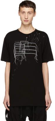 The Viridi-anne Black Patchwork T-Shirt