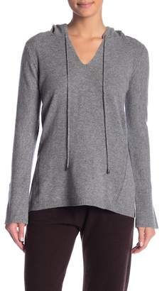 In Cashmere V-Neck Cashmere Hooded Sweater