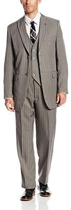 Stacy Adams Men's Mars Vested 3 Piece Suit