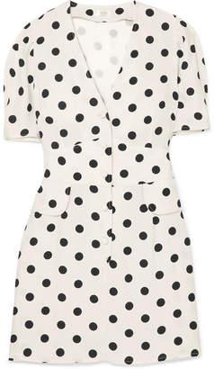 DAY Birger et Mikkelsen RIXO London - Laura Polka-dot Crepe Mini Dress - White