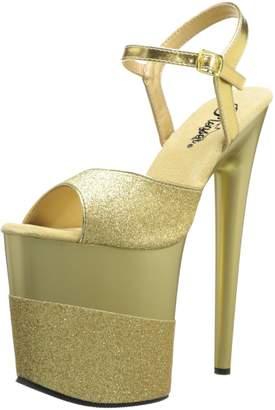 Pleaser USA Women's Flamingo-809-2G Ankle-Strap Sandal