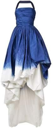 Oscar de la Renta halterneck dip dye gown