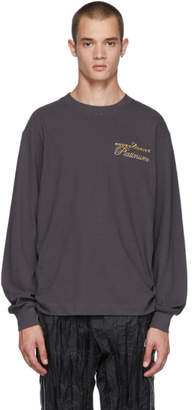 Alexander Wang Black Long Sleeve Rodeo Drive Platinum T-Shirt