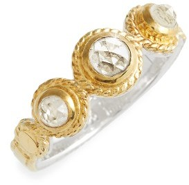 Women's Anna Beck Crystal Quartz Triple Stone Band Ring $200 thestylecure.com