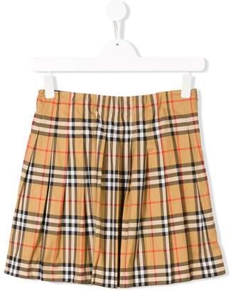 Burberry TEEN check skirt