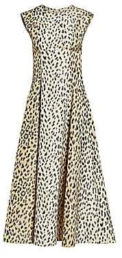 Calvin Klein Women's Sleeveless Leopard Print Midi Dress