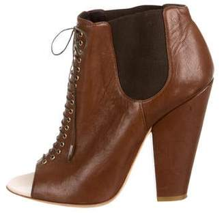 Givenchy Leather Peep-Toe Booties