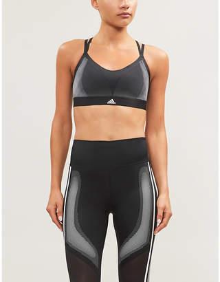 adidas All Me stretch-jersey sports bra