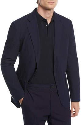 Ermenegildo Zegna Men's Solid Seersucker Two-Button Jacket