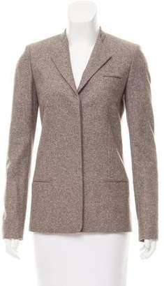 Calvin Klein Collection Collarless Tweed Jacket