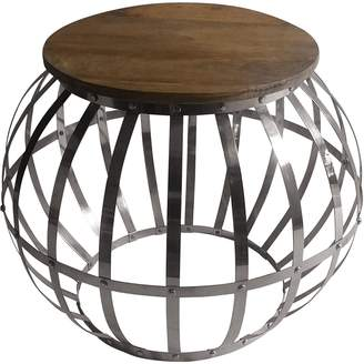 LS Collections Side Tables Metal Strap Side Table