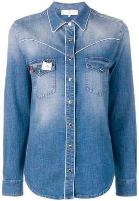 Elisabetta Franchi branded pin denim shirt