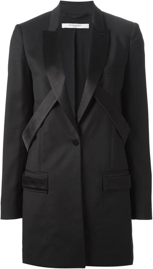 Givenchy strap detail tuxedo blazer