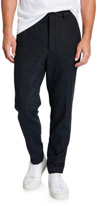 Ami Men's Wool Carrot-Fit Trousers