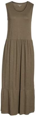 Eileen Fisher Scooped Neck Hemp & Cotton Midi Dress