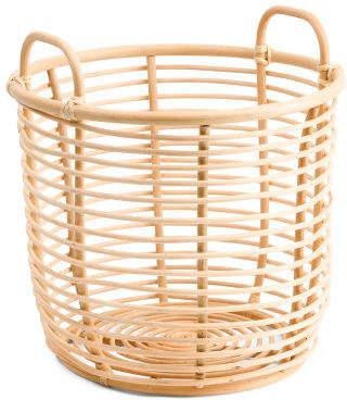 Large Round Rattan Storage Basket