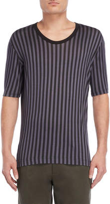 Dolce & Gabbana Vertical Stripe Silk Tee