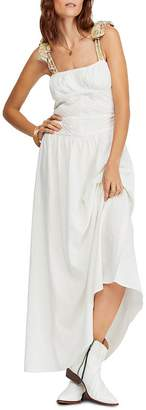 Free People Santorini Sleeveless Printed-Strap Maxi Dress