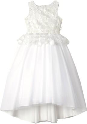 Badgley Mischka 3D Flower Peplum Dress