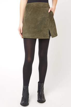 Blank NYC Suede A-Line Mini Skirt