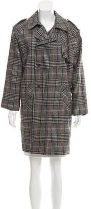 Les Prairies de Paris Plaid Wool Coat
