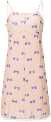 Miu Miu bow print dress