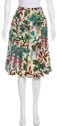 Philosophy di Lorenzo Serafini Silk & Linen Printed Skirt