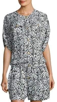 Pierre Balmain Leopard-Print Silk Jumpsuit