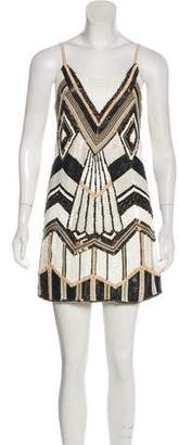 Alice + Olivia Beaded Mini Dress