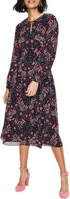 21c795232df6 Boden Ada Floral Long Sleeve Midi Dress
