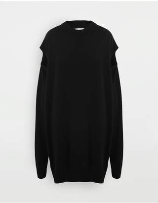 Maison Margiela Sweater Cut-Out Dress