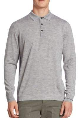 Brunello Cucinelli Fine Gauge Cashmere Blend Polo Sweater