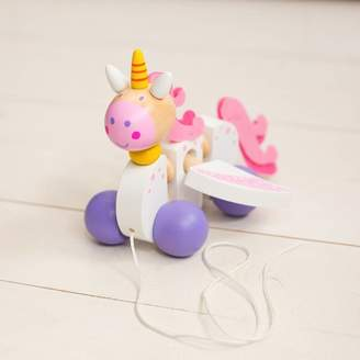 Harmony at Home Children's Eco Boutique Wooden Pull Along Unicorn Toy