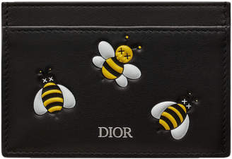 Christian Dior Card Holder x Kaws With Yellow Bees Black
