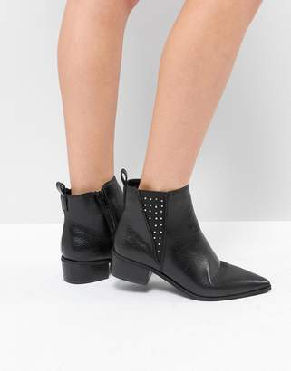 London Rebel Studded Gusset Chelsea Boot