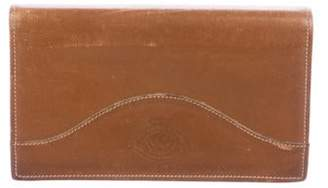 Ghurka Leather Checkbook Cover Brown Leather Checkbook Cover