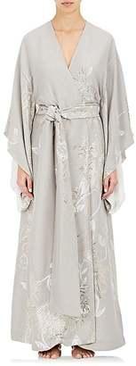 Carine Gilson Women's Silk Jacquard Kimono Robe