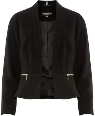 Dorothy Perkins Womens Black Cropped Zip Jacket