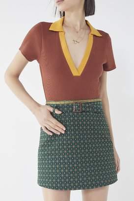 Urban Outfitters Peggy Jacquard Mini Skirt