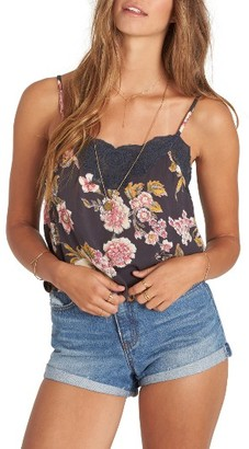 Women's Billabong Side By Side Lace Trim Camisole $39.95 thestylecure.com